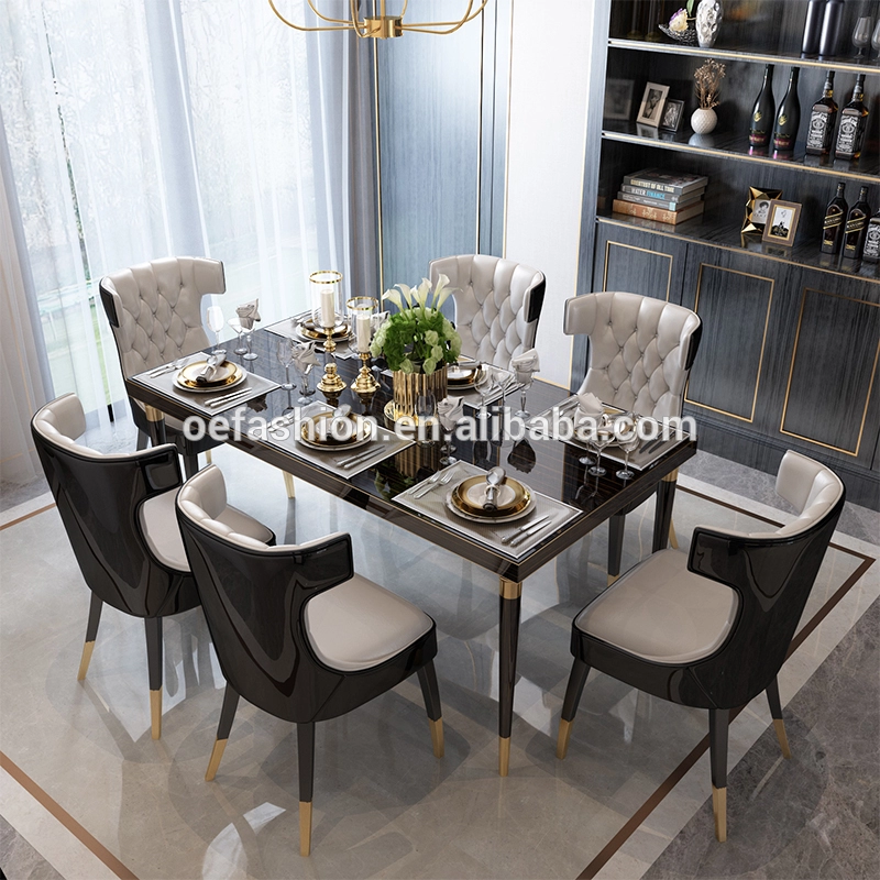 Oe Fashioncustomized Home Hotel Furniture 6 Seater Dining Table Set Tables And Chairs For Restaurant View Stainless Steel Dining Table Oe Fashion Product Deta 6 Seater Dining Table Dining Table Setting Hotel Furniture