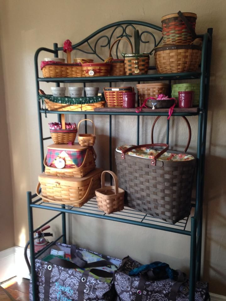 Longaberger Basket Collection Bakers Rack Shelving Bakers Rack