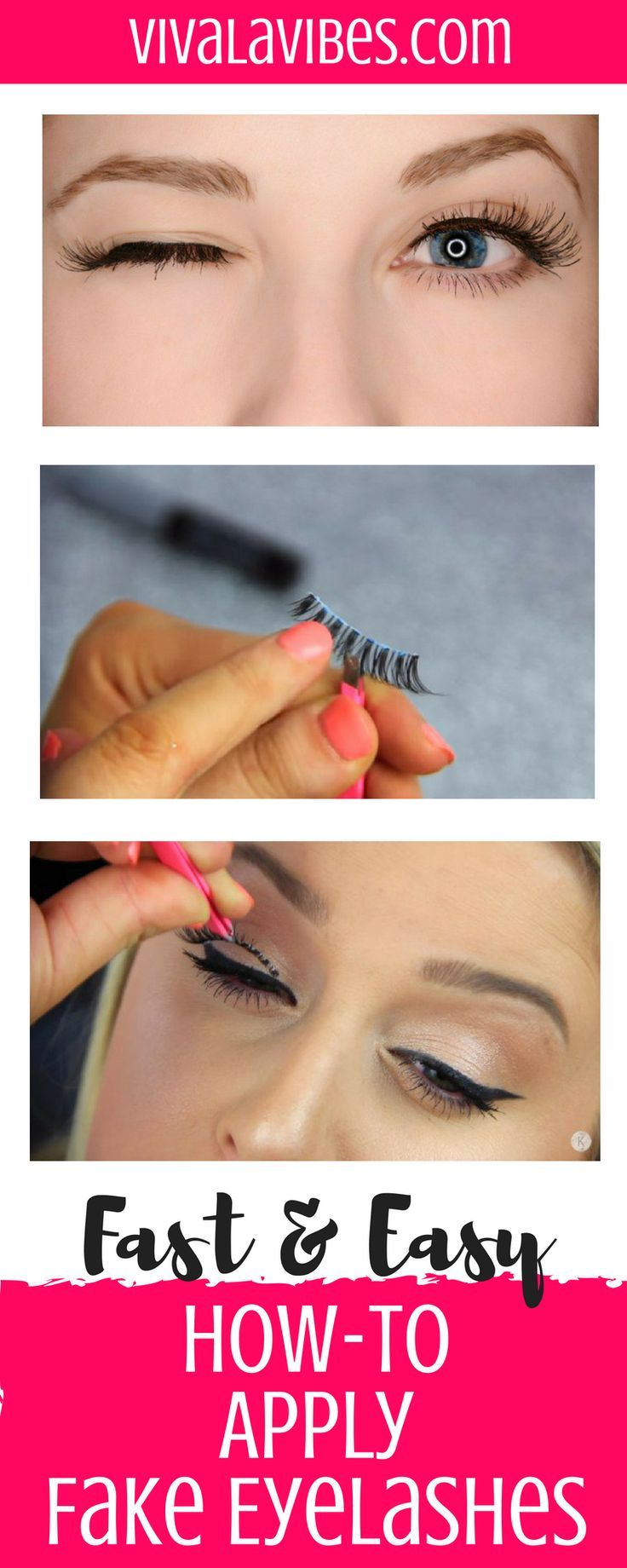 How To Apply Fake Eyelashes Fast Easy Female Bloggers Free For