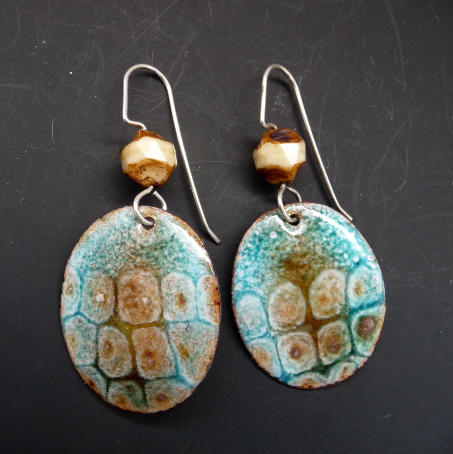 earrings sgraffito img product of kalaya jewlery metal sculpture steede enamel image
