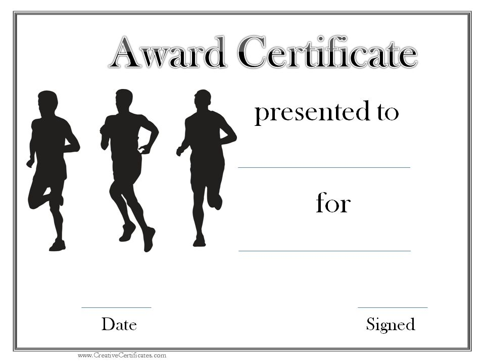 We received a request from a track and field coach who for Running certificates templates free