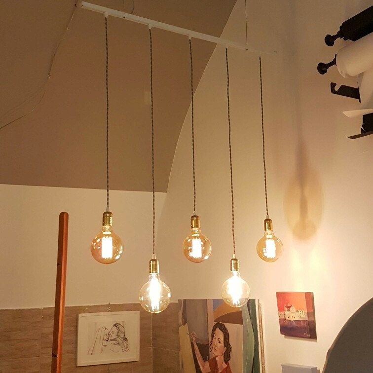 Lampadario Design A Sospensione Stile Vintage 5 3 Lampade Etsy Lampadari Lampadario Illuminazione Soffitto