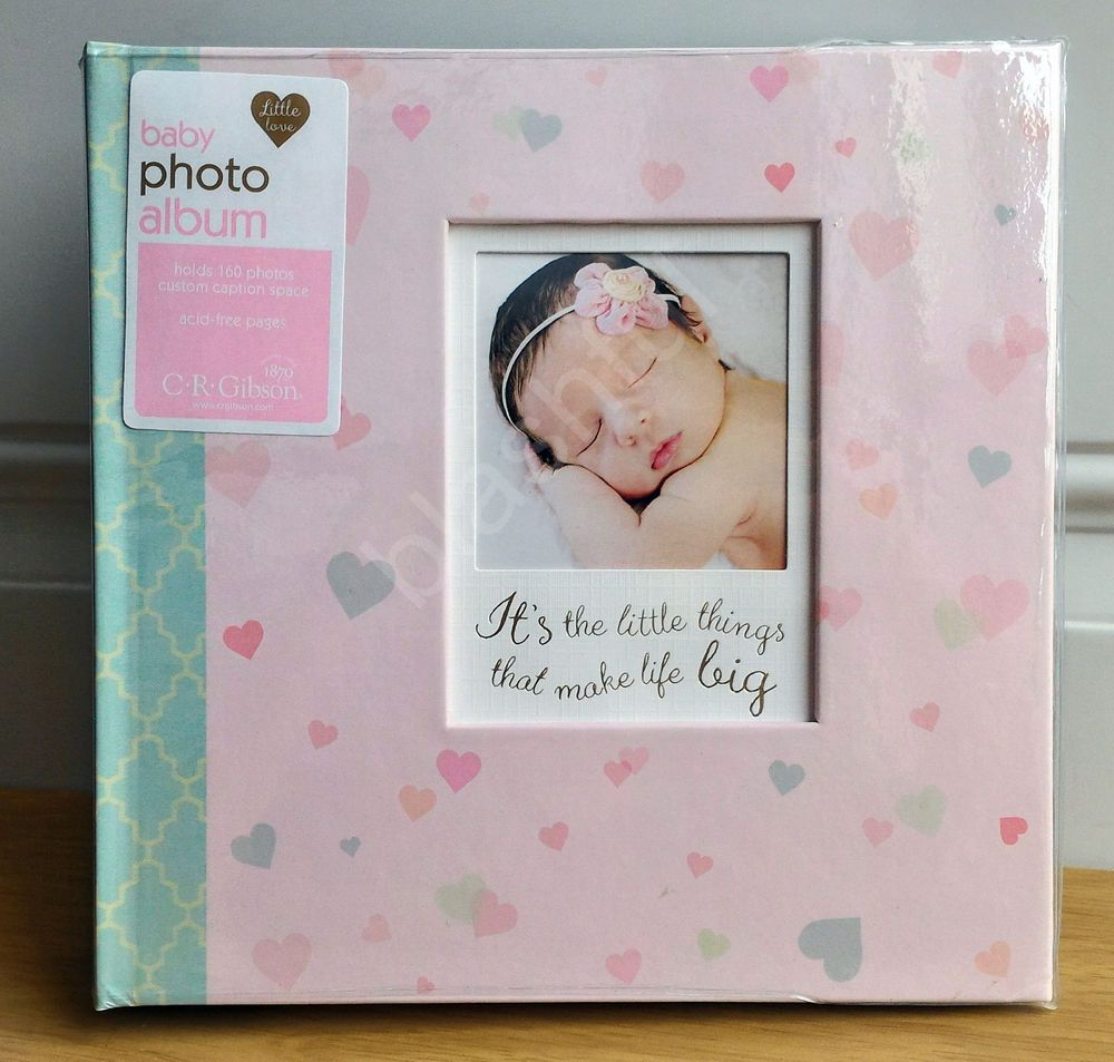 Baby Girl Memory Book CR Gibson Linnea Newborn Keepsake Pink