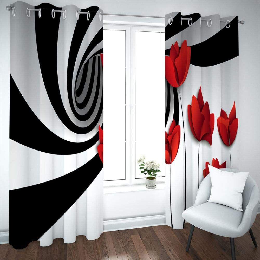 zcfgg rideau occultants fleur rouge