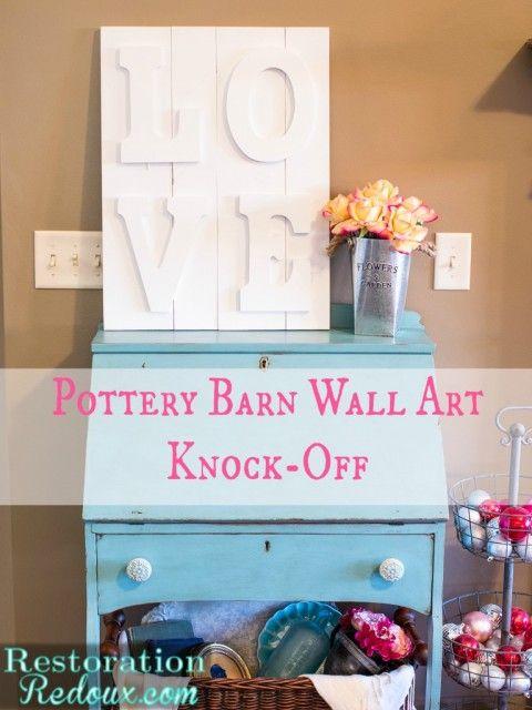 Pottery Barn Wall Art Knockoff Restoration Redoux Pottery Barn Wall Art Pottery Barn Pottery Barn Hacks
