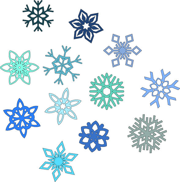 each snowflake is unique as represented in this collection of rh pinterest com Snowflake Border Clip Art Snowflake Patterns