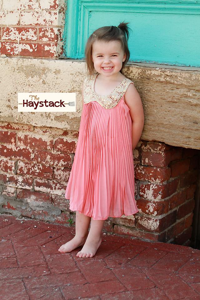 Girls Sparkle Collar Sleeveless Dress (2 colors)