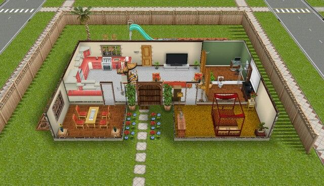 Pretty awesome Sims freeplay peach themed house Sim Freeplay