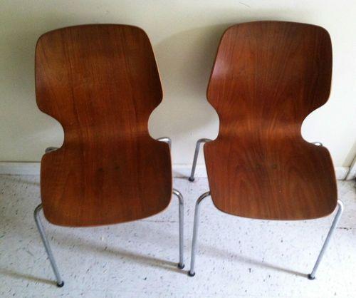 Vintage Westnofa Molded Plywood Chair Eames Era Ebay Plywood Chair Chair Eames