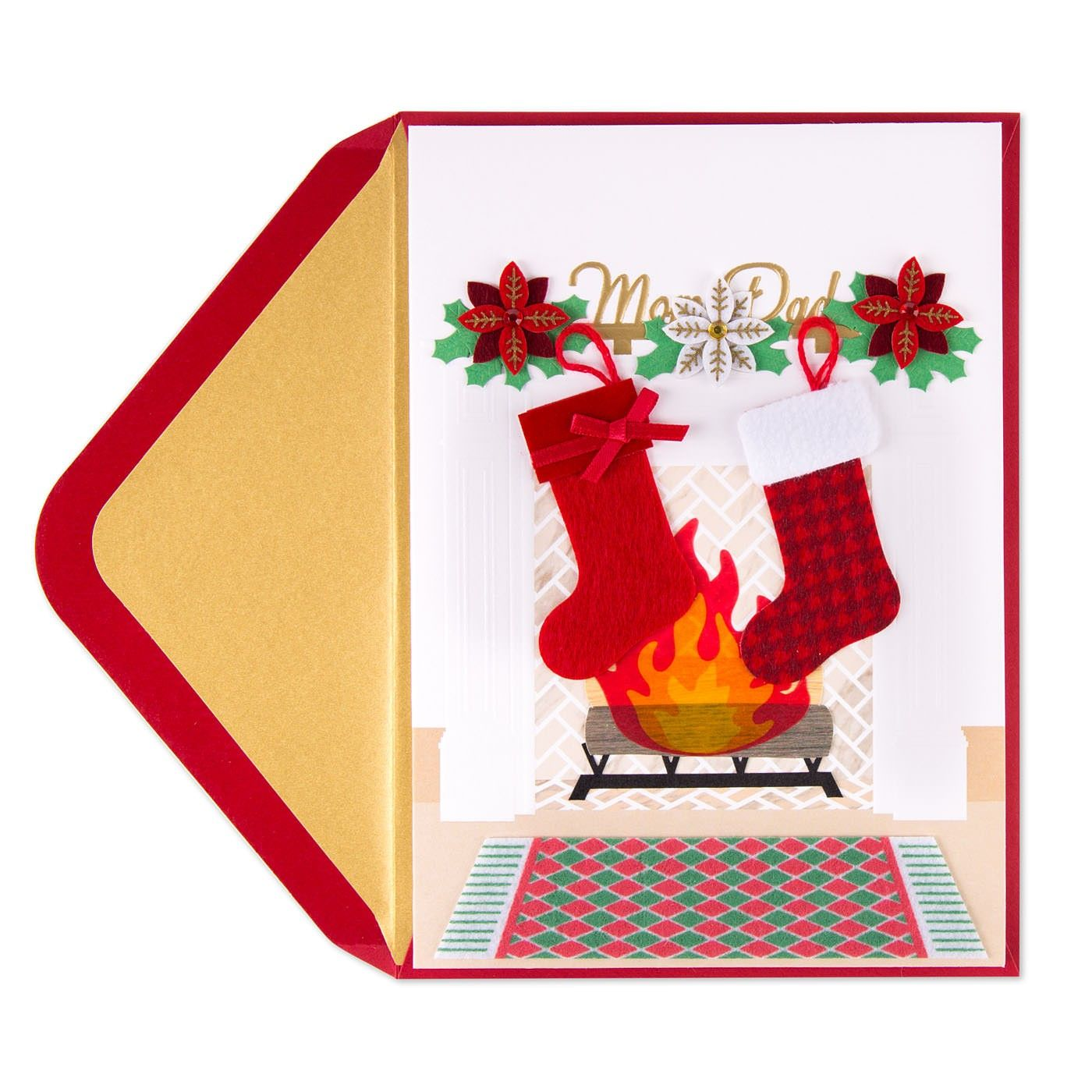 Mom Dad Stockings Christmas Card For Mom Dad Stockings Dads