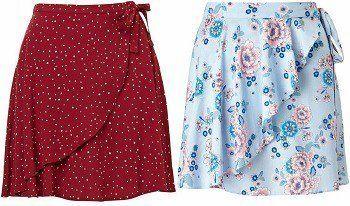 47dc5df33 Patrón para hacer una Falda pareo | costura | Vestidos floreados ...