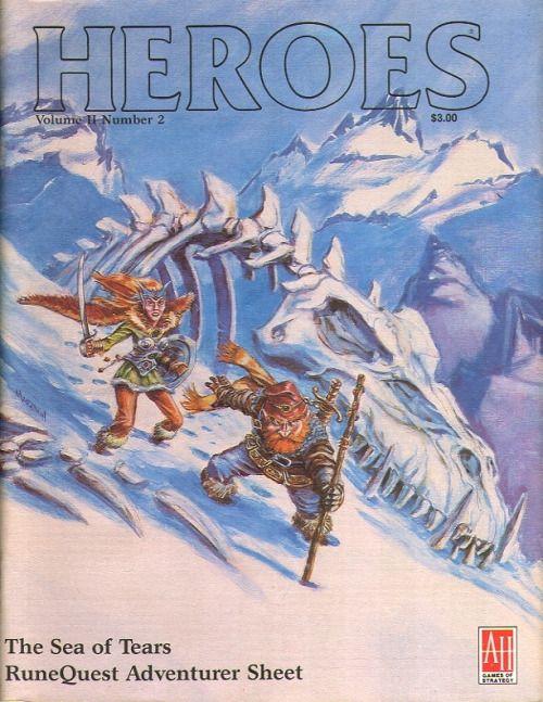 Heroes magazine Volume 2, Number 2 ~ Avalon Hill (1986)