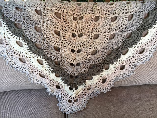 Caron Cakes Cookies And Cream Shawl Pattern