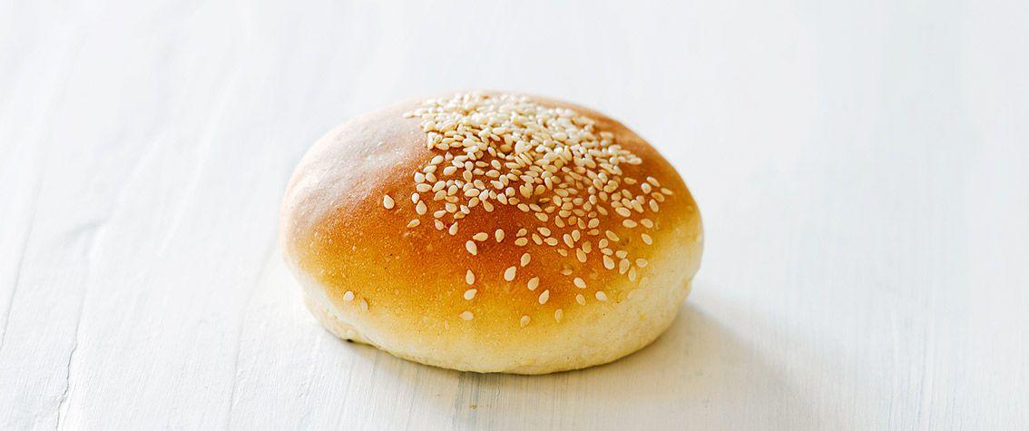 Burgerboller. Prøv 200 g hvid hvede og 300 g hvede