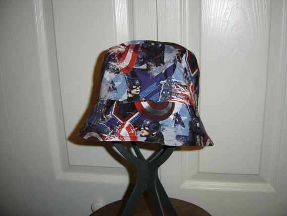 Reversible Avengers Captain America Bucket by allthatjazzdesigns ... 44074adf827