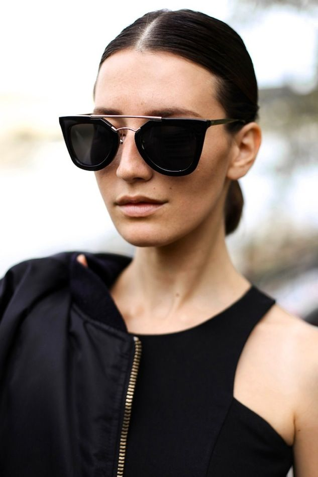 the latest sunglasses fashion  Le Fashion Blog Splurge Vs Save Prada Cat Eye Double Bridge ...