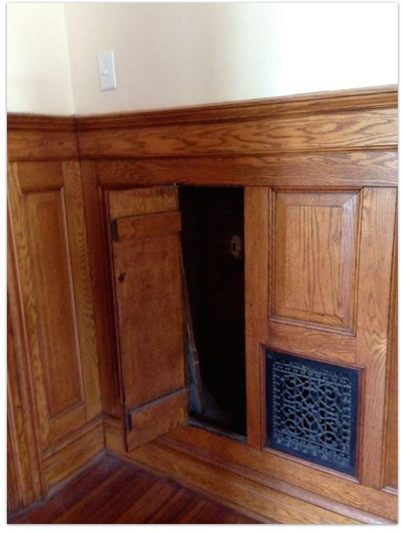 what is behind wood paneling