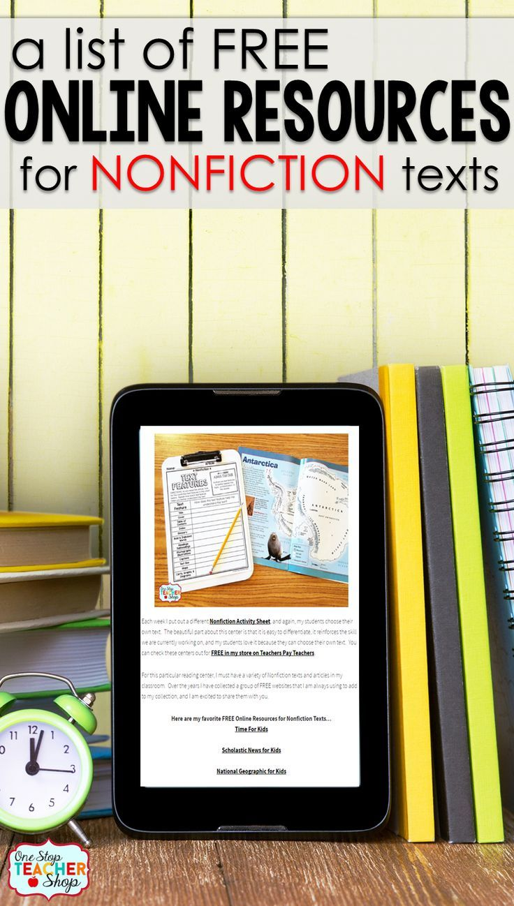 Free Nonfiction Reading Websites for Kids | Pinterest