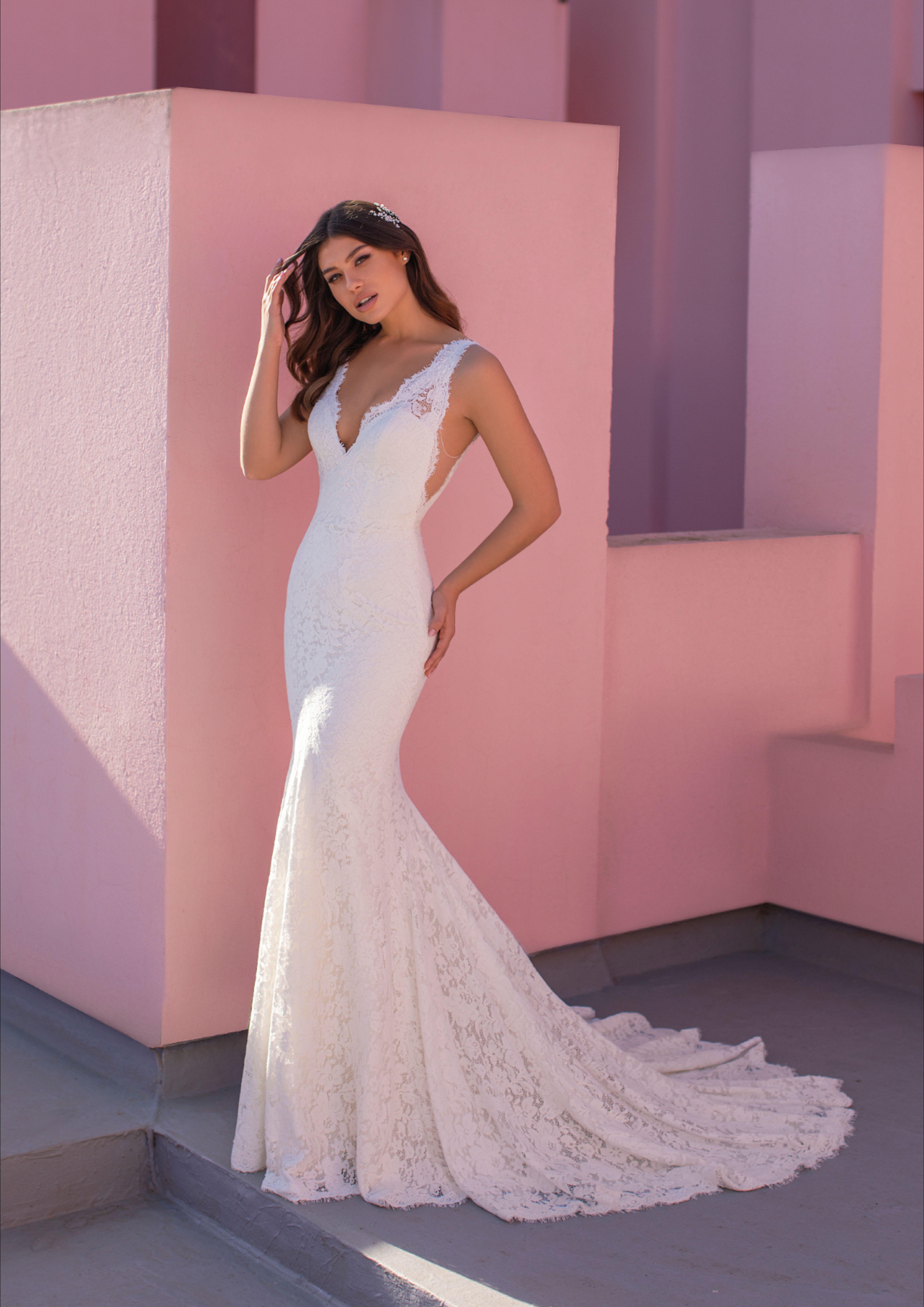 Spitzenkleid Meerjungfrau Brautkleid Mit Cutouts Brautkleid Hochzeitskleid Spitze Braut