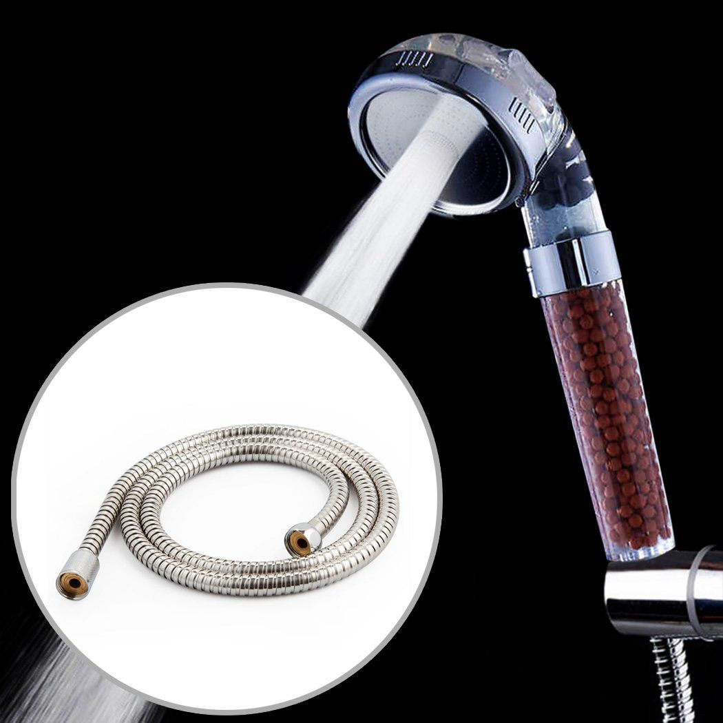 Ionic Handheld Shower Head And 1 5 Metre Hose 3 Function Filtered