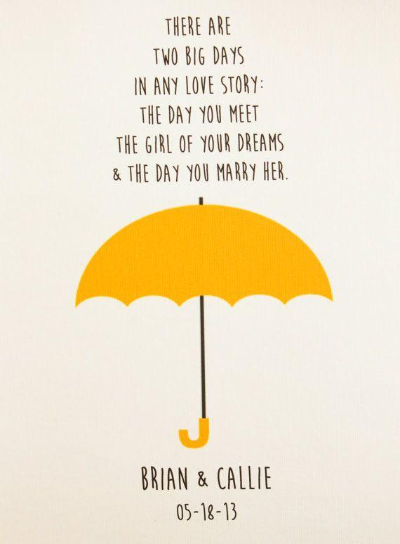 Yellow Umbrella How I Met Your Mother Poster Yellow Umbrella...