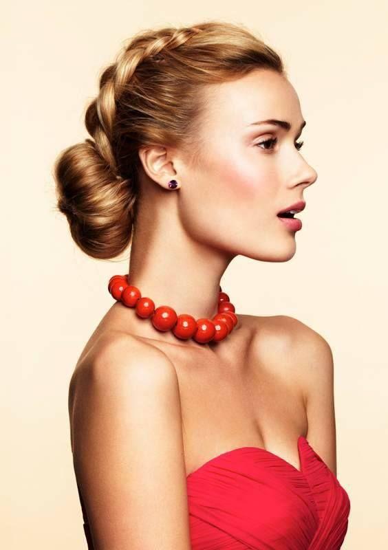 elegant hairstyle with braids
