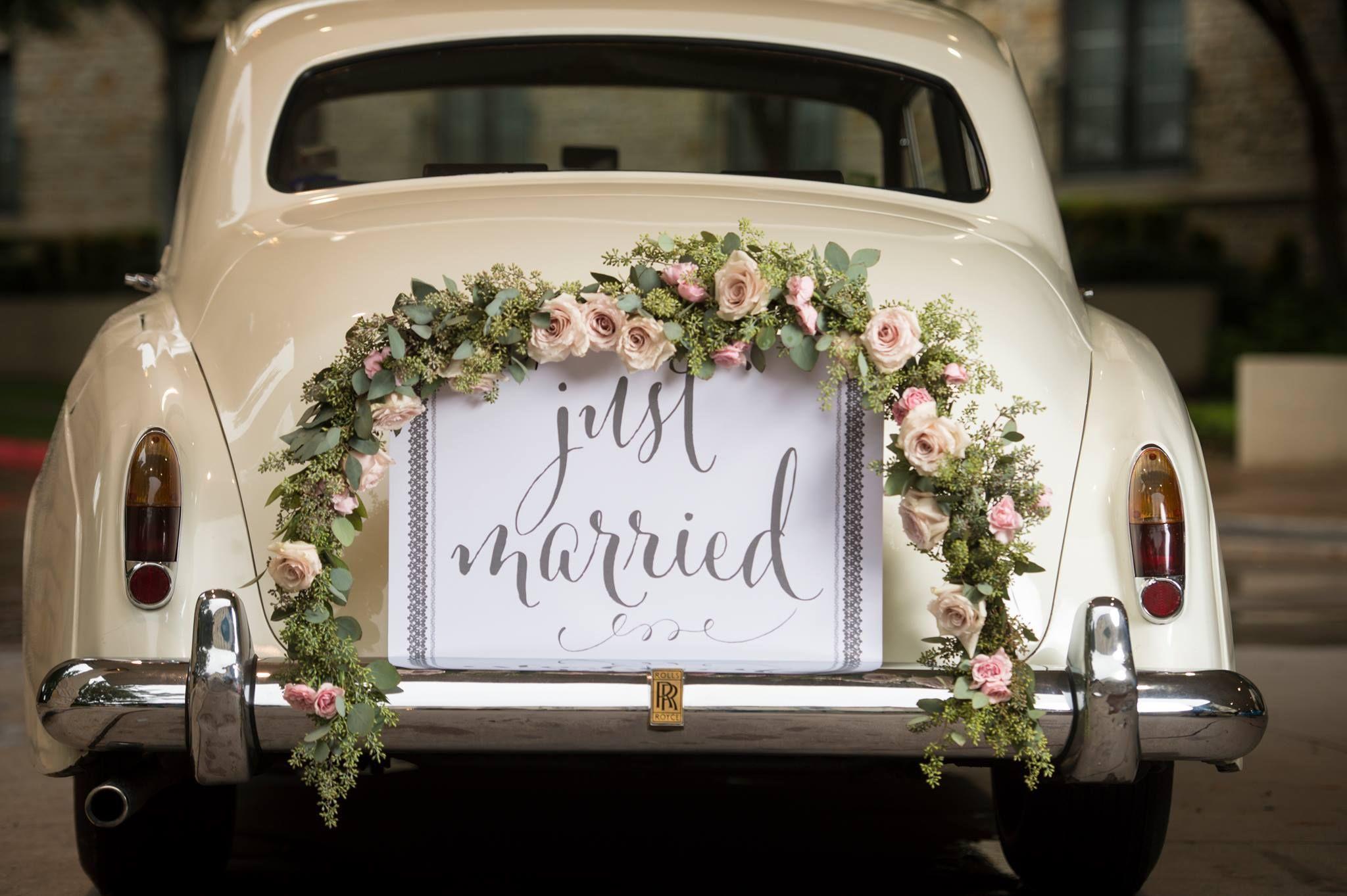 just married autoschmuckhochzeitringe married