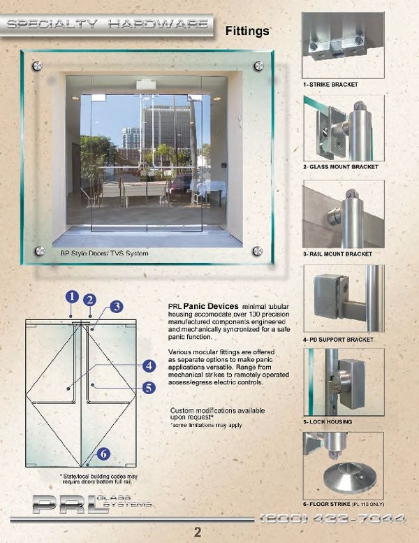 Tubular Panic Hardware For All Glass Doors The Pl 100 Meets All Requirements For Panic Tubular Hardware It Ha Glass Entrance Doors Architecture Manufacturing
