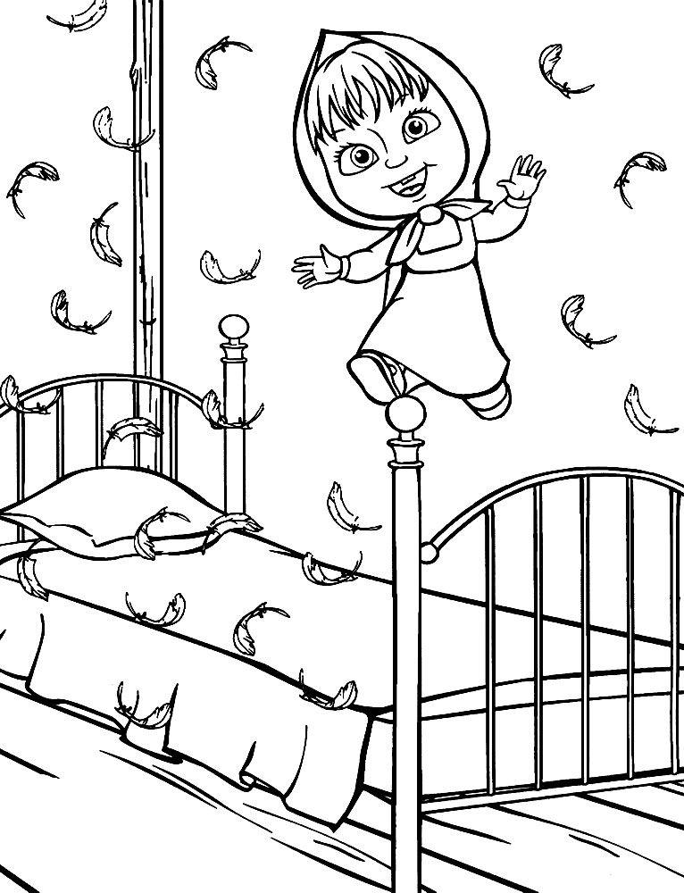 Скачать бесплатные детские раскраски Маша и Медведь ...