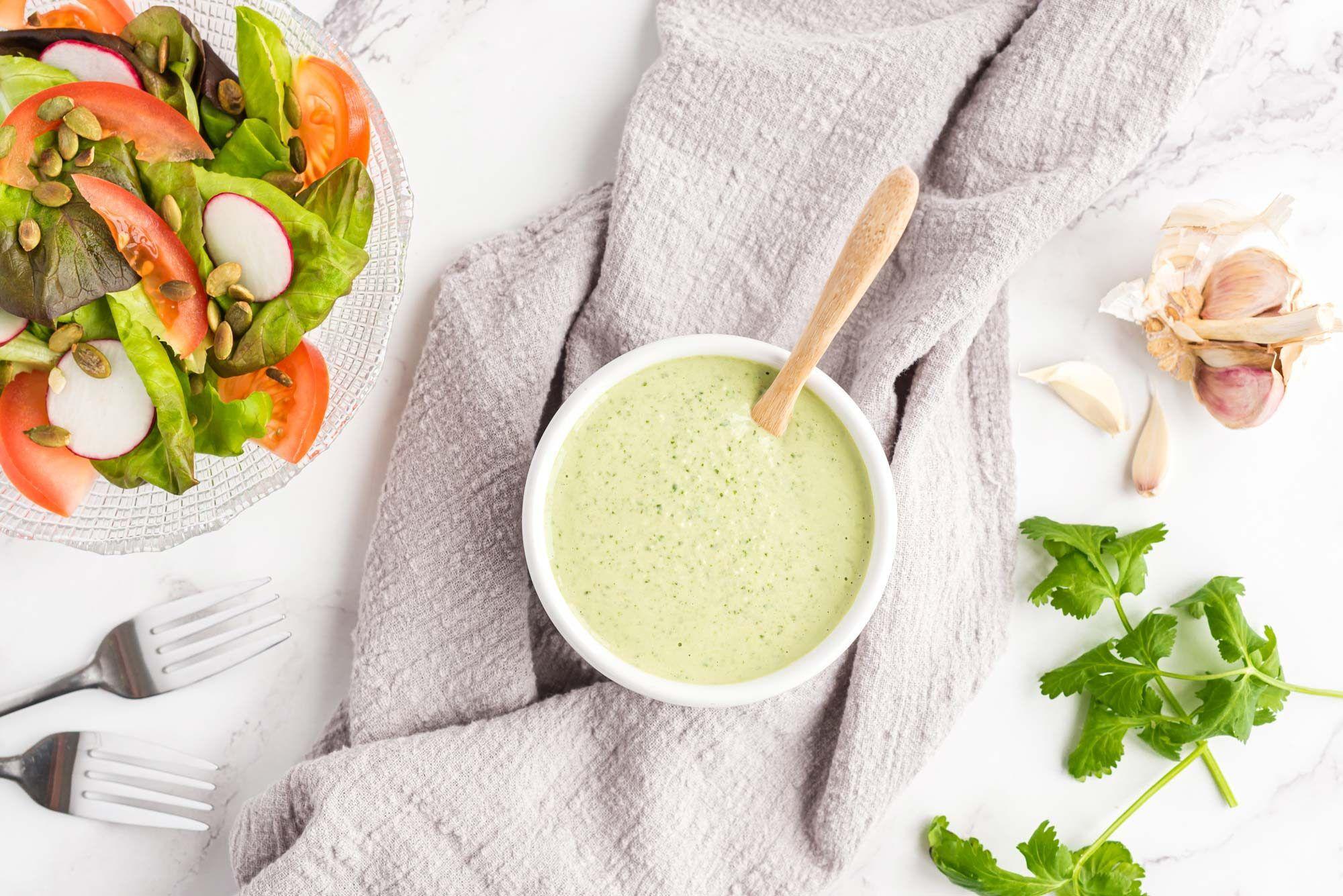 Green Goddess Dressing Recipe Oil Free Salad Dressing Green Goddess Dressing Whole Food Recipes [ 1335 x 2000 Pixel ]