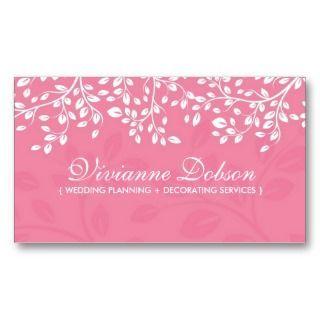 Elegant Wedding Planner Business Cards Event Planning Name Invitation