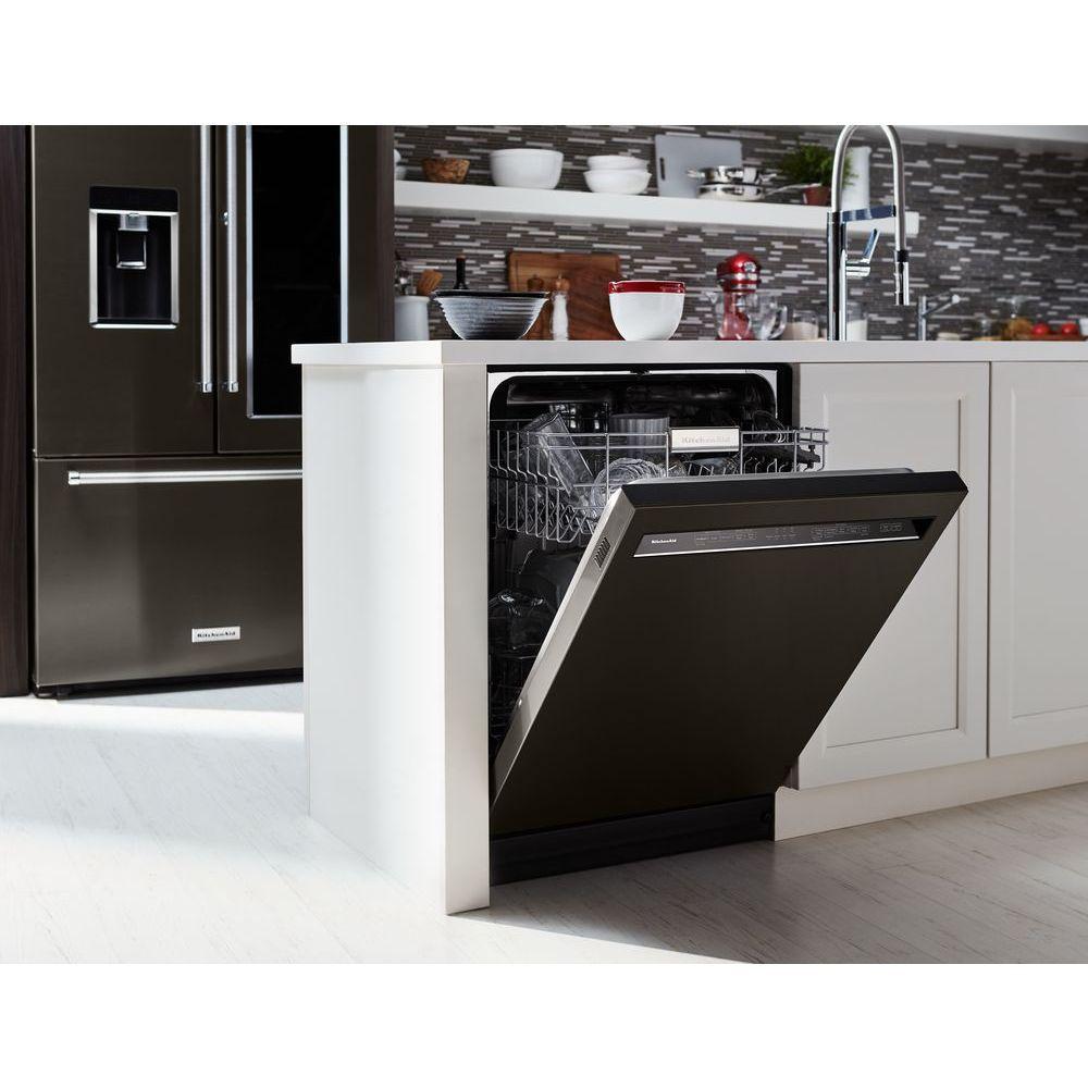 46 Dba Dishwasher With Prowash Front Control Kitchen Aid Appliances Black Dishwasher