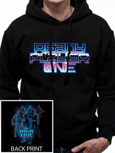 Ready Player One High Five Men 039 S Small Hooded Sweatshirt Black Black Sweatshirts Hooded Sweatshirts Ready Player One