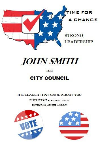 Political Campaign Flyer for City Council Free Political - political brochure