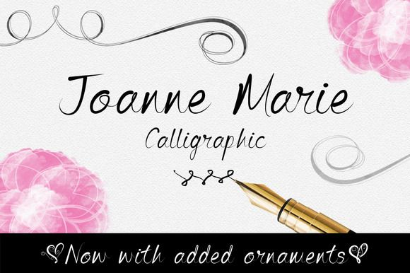 ♥ beautiful fonts ♥ // Joanne Marie caligráfico Font - Script - 1