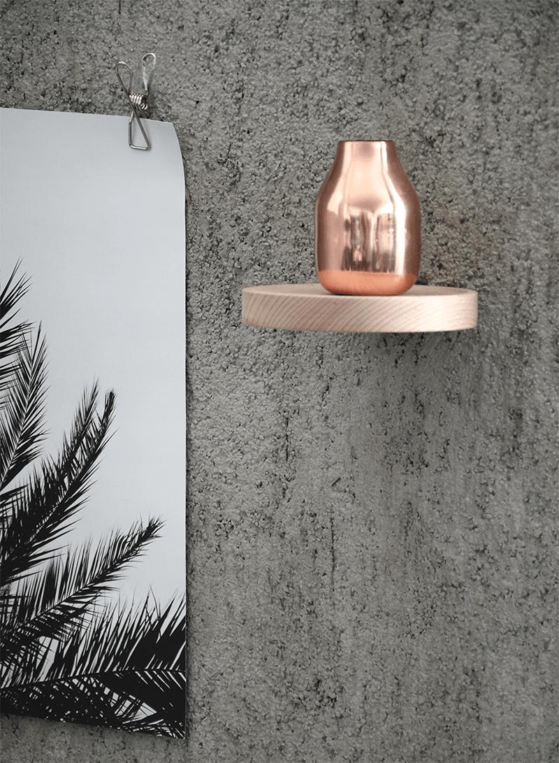 Palm print set on a concrete wall - via cocolapinedesign.com
