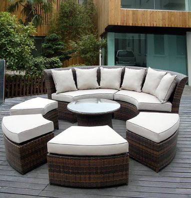 Ohana Depot Patio Outdoor Wicker Sofa Furniture Factory Direct Prices  Outdoor Dining Deep Seating Sofa Couch
