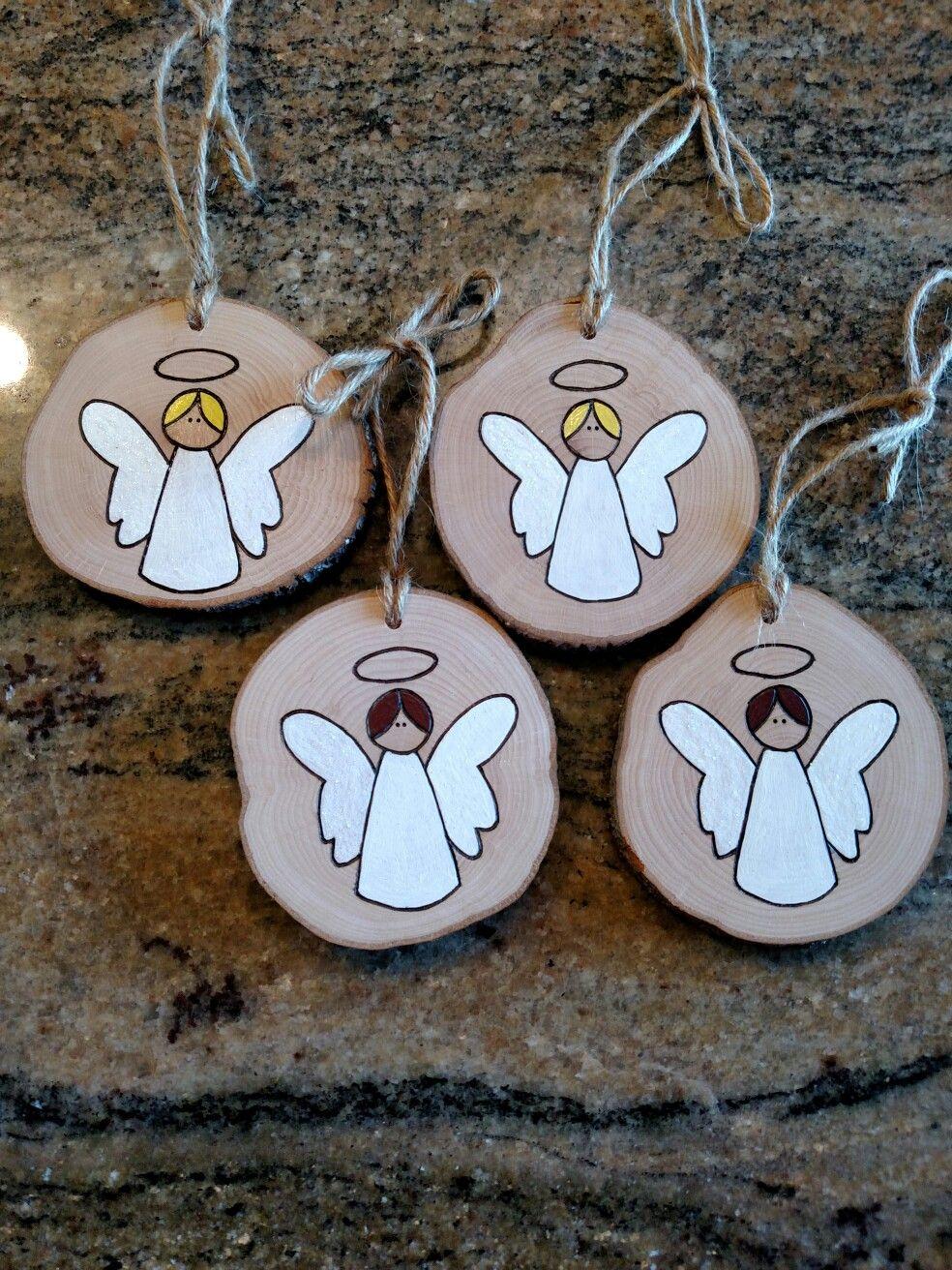 Angel Ornaments Angel Ornaments Wood Ornaments Christmas Ornaments