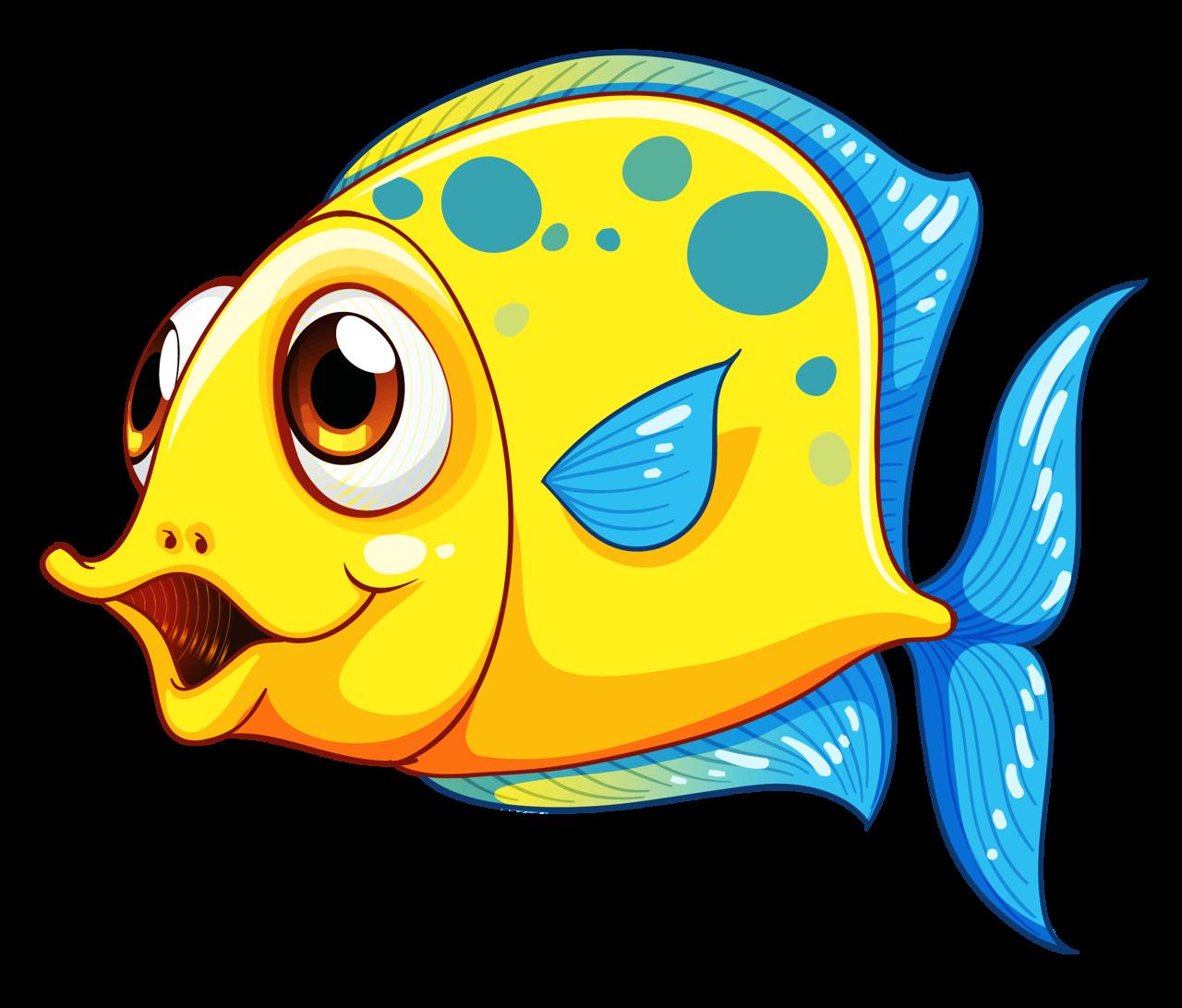 cute yellow fish cartoon royalty free cliparts vectors and stock