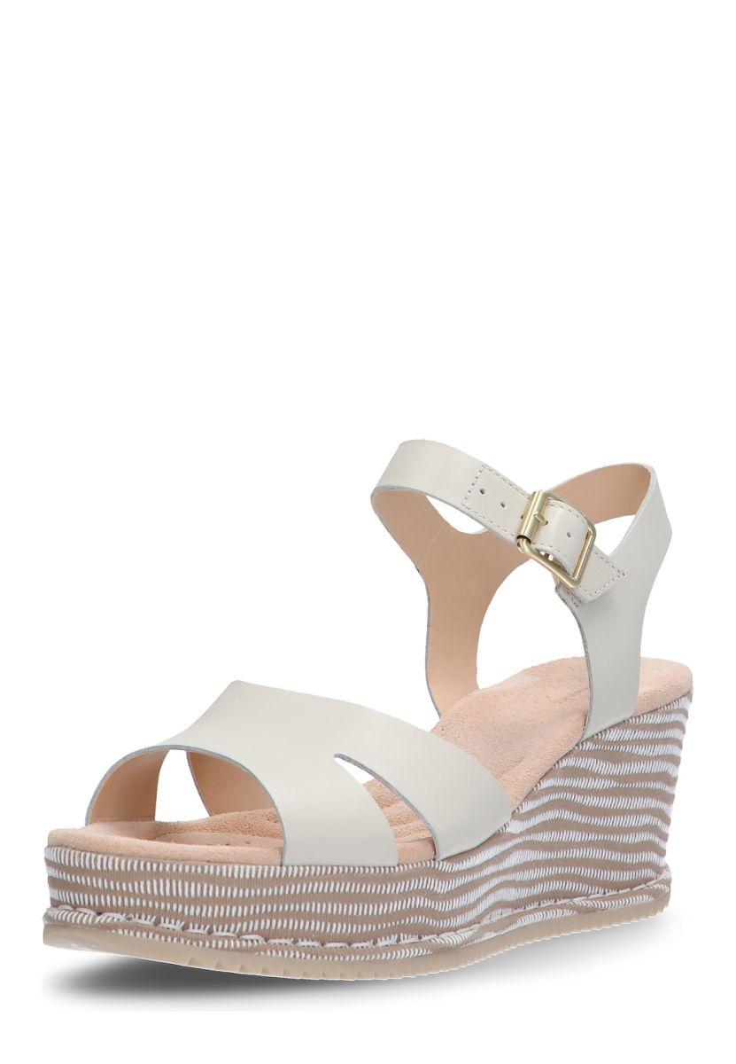 ea5494613b9f Clarks Keil-Sandaletten Akilah Eden, Absatz 7 cm, weiß Jetzt bestellen  unter