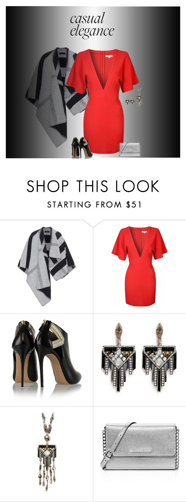 """""""Red Dress"""" by simplyme51 ❤ liked on Polyvore featuring Burberry, Glamorous, Casadei, Lulu Frost and MICHAEL Michael Kors"""