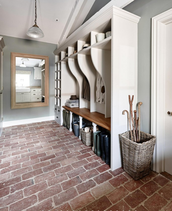 Kitchen And Hallway Flooring: Hall: Modern Country
