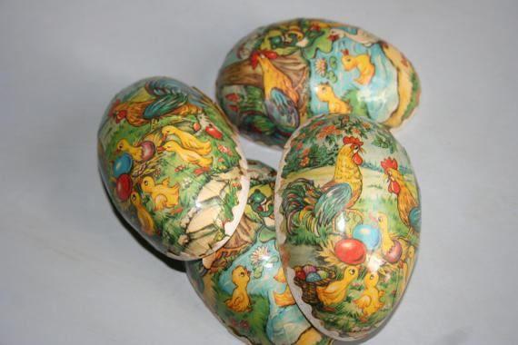 Vintage Easter Eggs Paper Mache Made In German Democratic