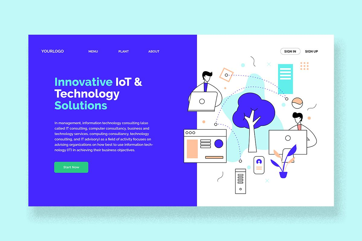 Technology It Consultant Landing Page Graphic By Unfuturstudio Creative Fabrica