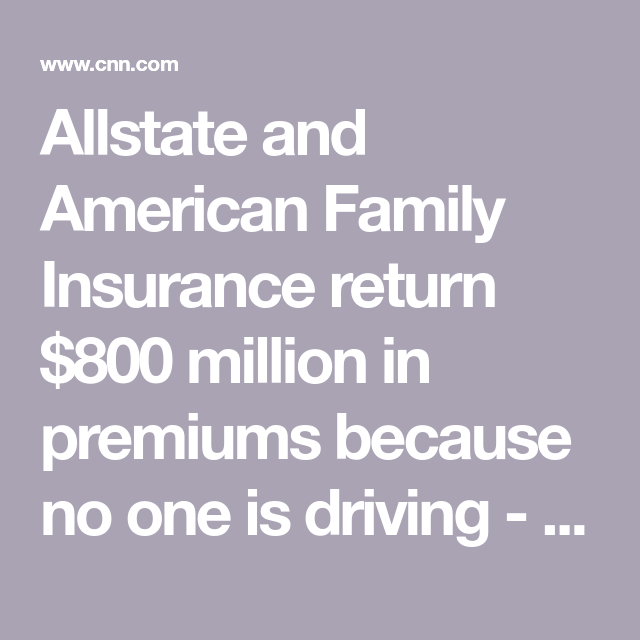 Auto Insurance Companies Return 800 Million In Premiums Because
