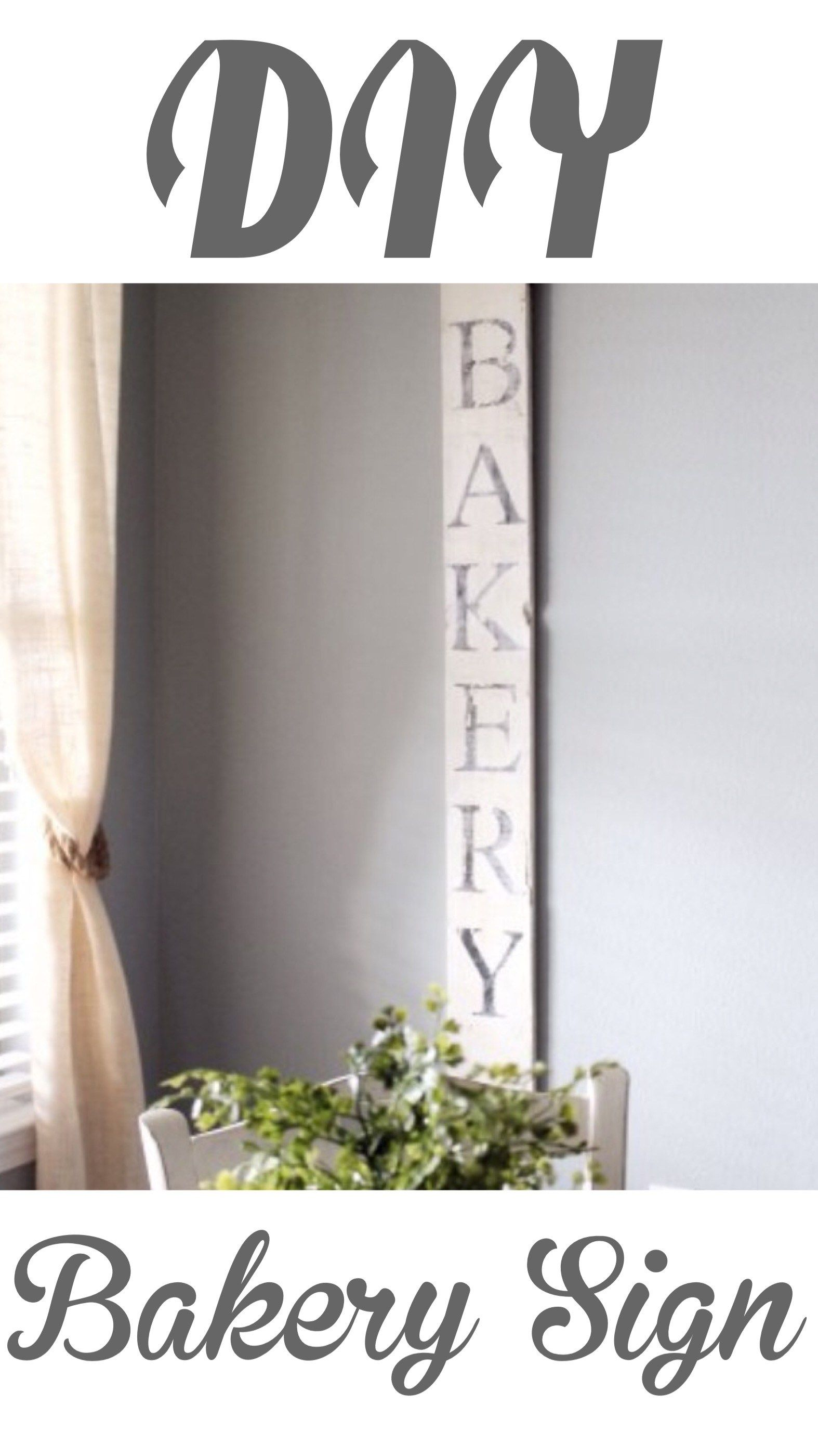 DIY vintage Bakery SIgn | DIY, Decor & Home Improvement | Pinterest ...