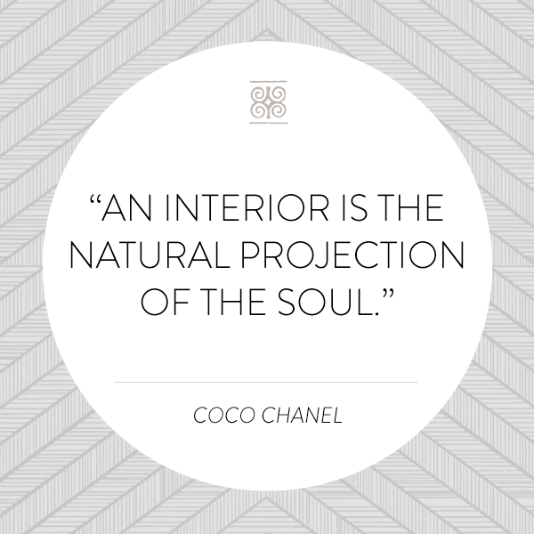TGIF WORTHY WEEKEND WISDOM An Interior Is The Natural Projection Of Designer QuotesCoco