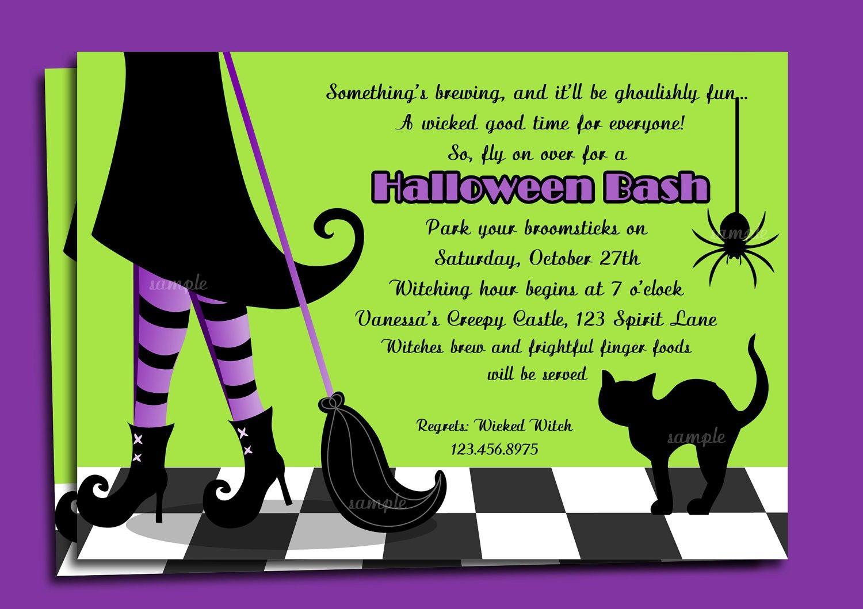 halloween invitation templates | Halloween Invitations Wording ...