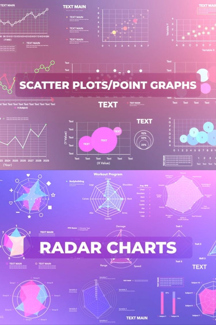 Free Update to FCPX Infographics 30 Radar Charts and