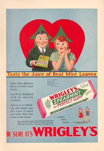 Wrigley's Spearmint Gum, 1929